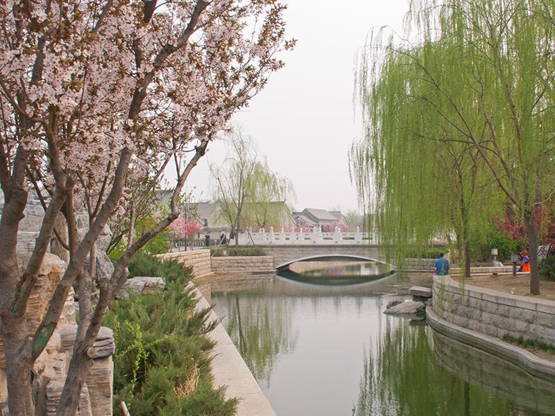 Canal dans un quartier de hutong à Pékin