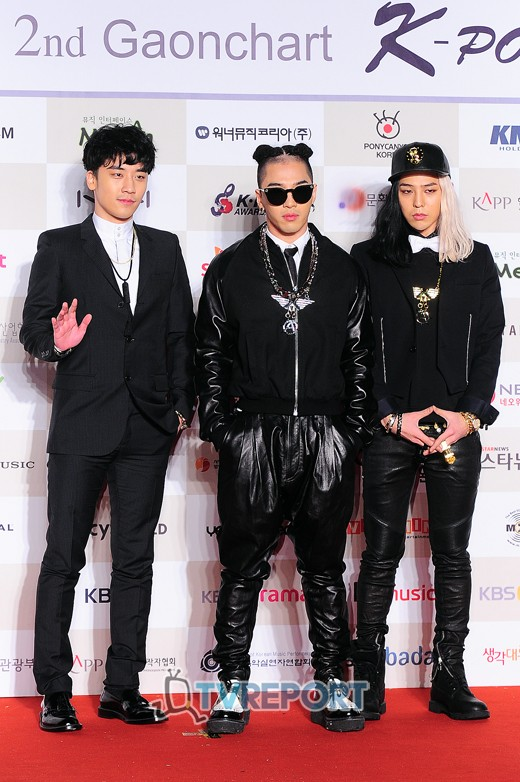 Big Bang At The Gaon Chart KPOP Awards