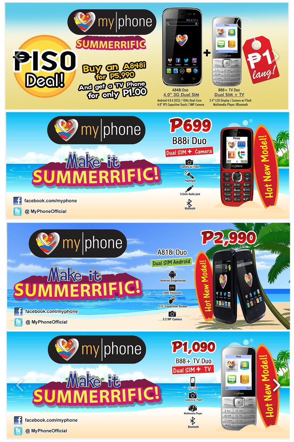 out the Myphone Promos, Available Nationwide! until April 30, 2013