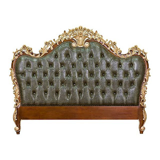 head board carved classic wooden bed finishing gold leaf painted