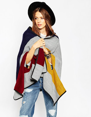 ASOS Bold Stripe Woven Cape
