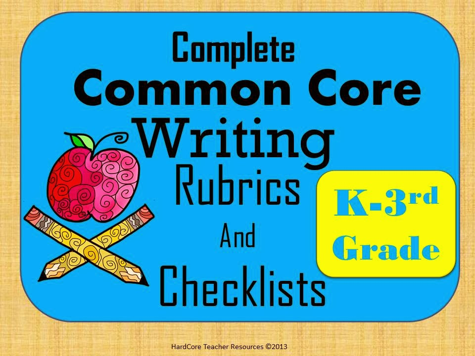 http://www.teacherspayteachers.com/Product/Complete-K-3-Common-Core-Writing-Rubrics-and-Checklists-1132347