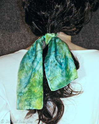 Deborah Younglao Colorhue dyed silk scarf