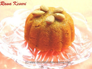 recipe of saffron flavoured semolina dessert, indian recipe prepared on ocassion of baisakhi