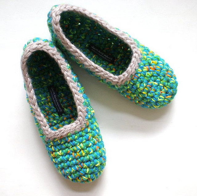 Crochet Slippers : white noise maker: New Crochet Slippers