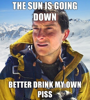 bear grylls the sun is going down
