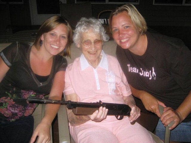 Amazing Grannies With Guns Funny Images Seen On  www.coolpicturegallery.us