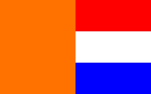 oranje rood wit blauw wallpaper