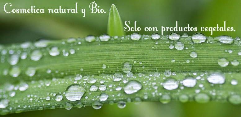 Cosmetica natural y Bio. Solo con productos vegetales.