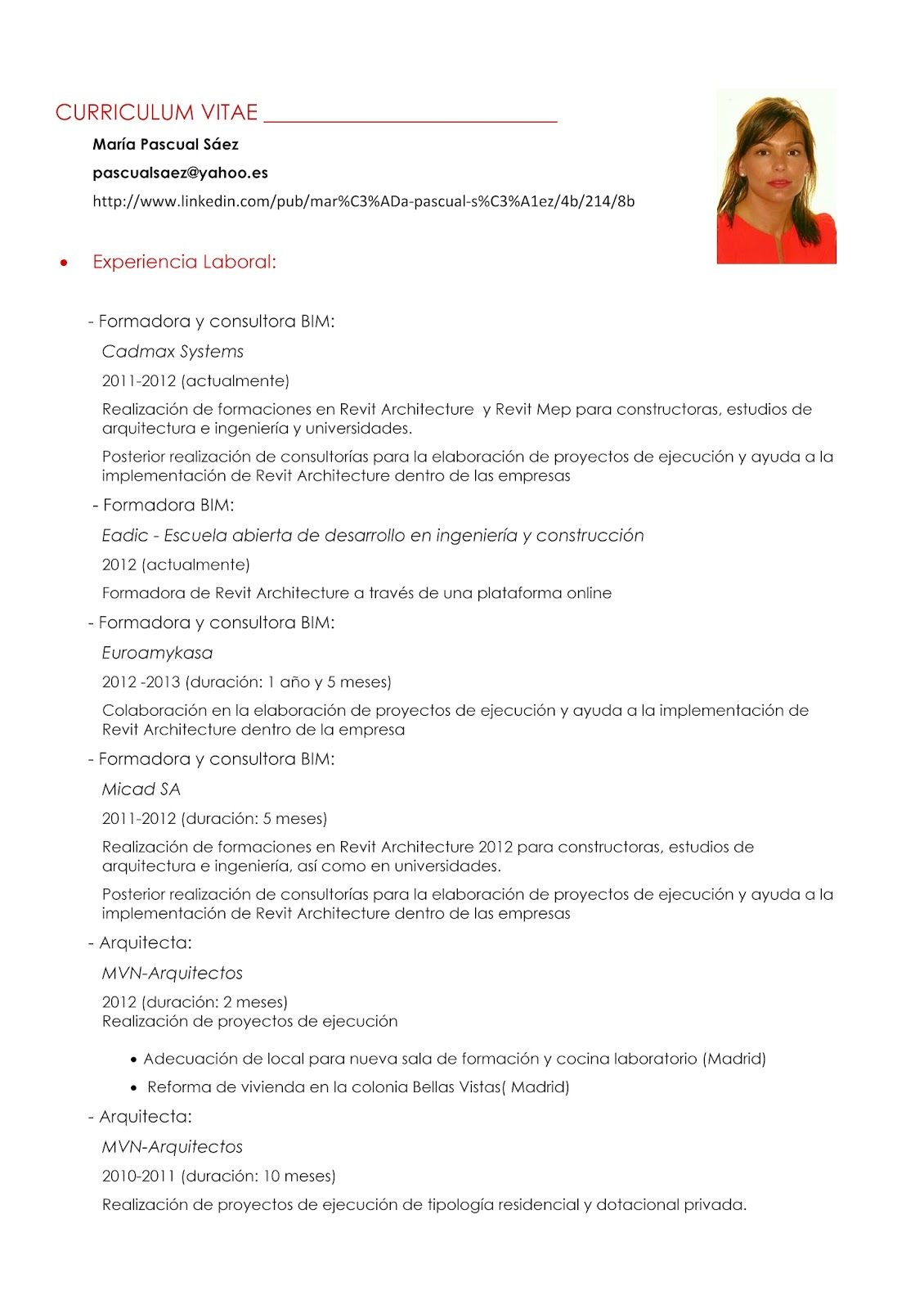 Bonito Linkedin Curriculum Vitae Motivo - Colección De Plantillas De ...