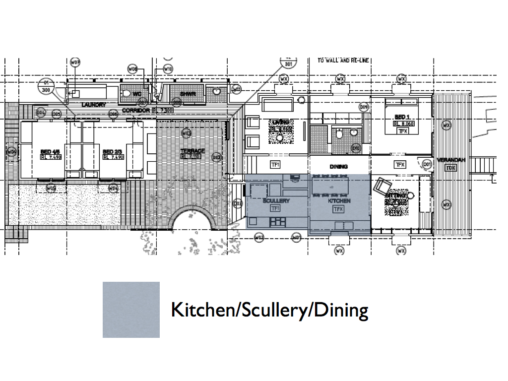 West End Cottage Kitchen Plans And The Idea Of Food Flow