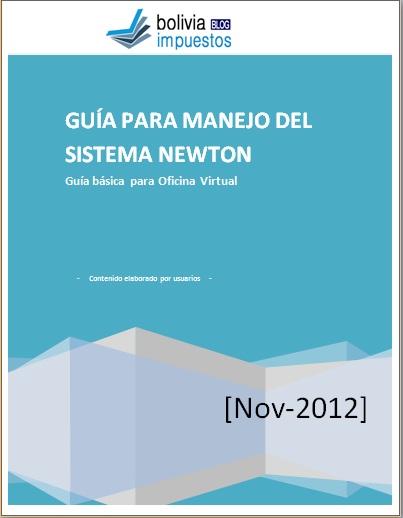 Gu a newton nov 2012 desde oficina virtual bolivia for Oficina virtual impuestos
