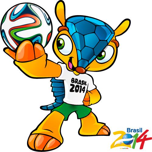 Fuleco, mascota oficial Brasil 2014 - Vector