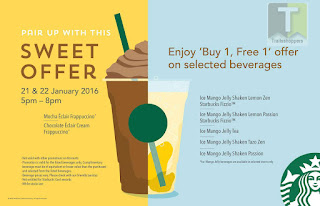 Starbucks Buy 1 FREE 1 Mocha Mango offer