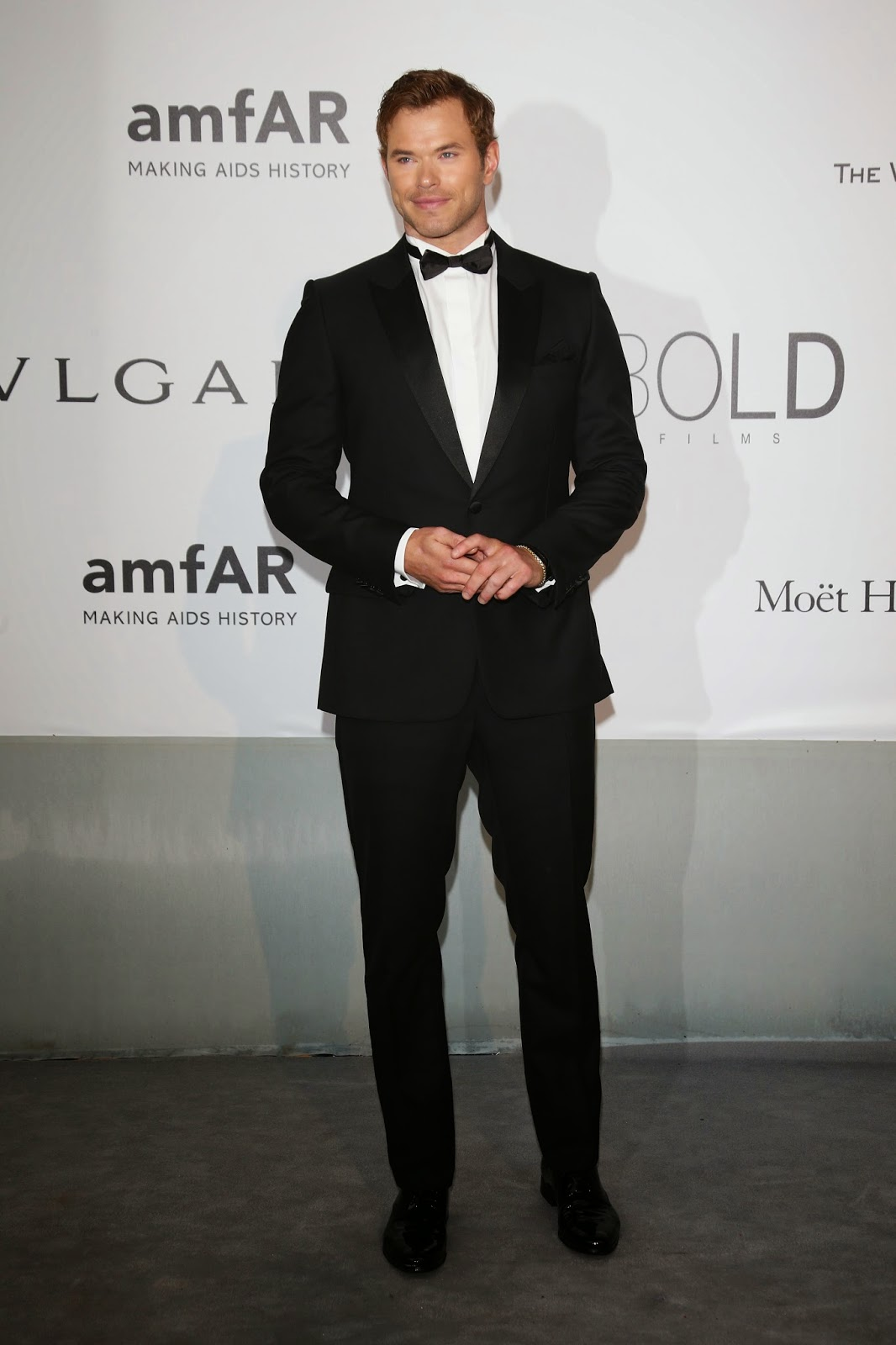 Kellan Lutz in Dior Homme at amfAR Gala Cannes 2014