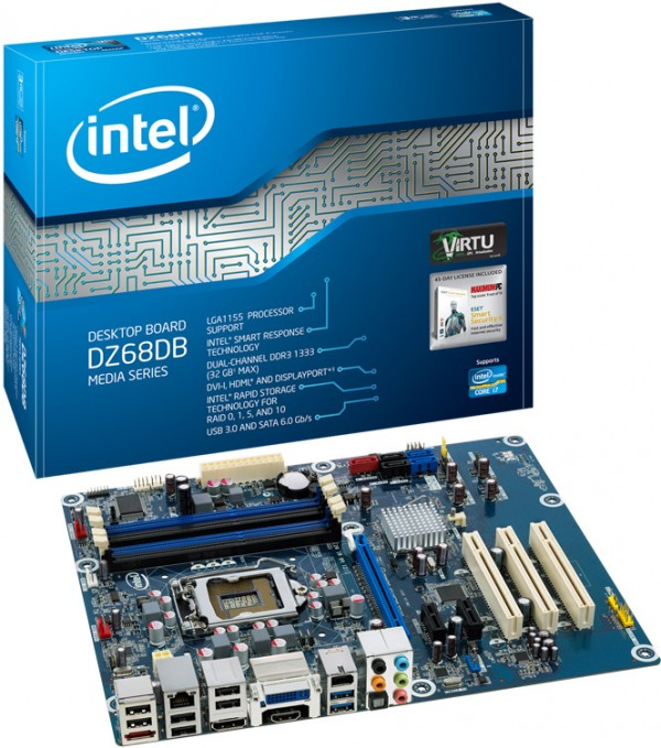 Intel motherboard DZ68DB MODEL FOR INTEL MB 32 GB Intel Core i7 CPU MODEL 2600k 3:40 GHz.