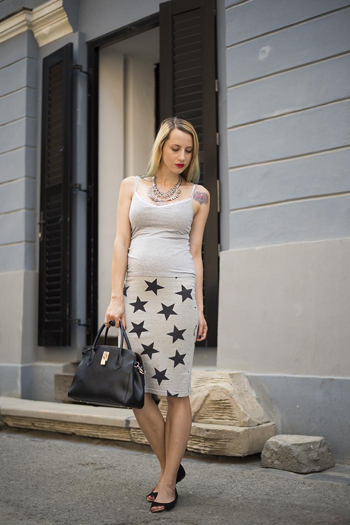 Skinny Buddha Happiness Boutique statement necklace stars skirt