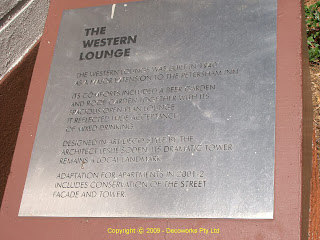 Petersham Inn commemorative plaque