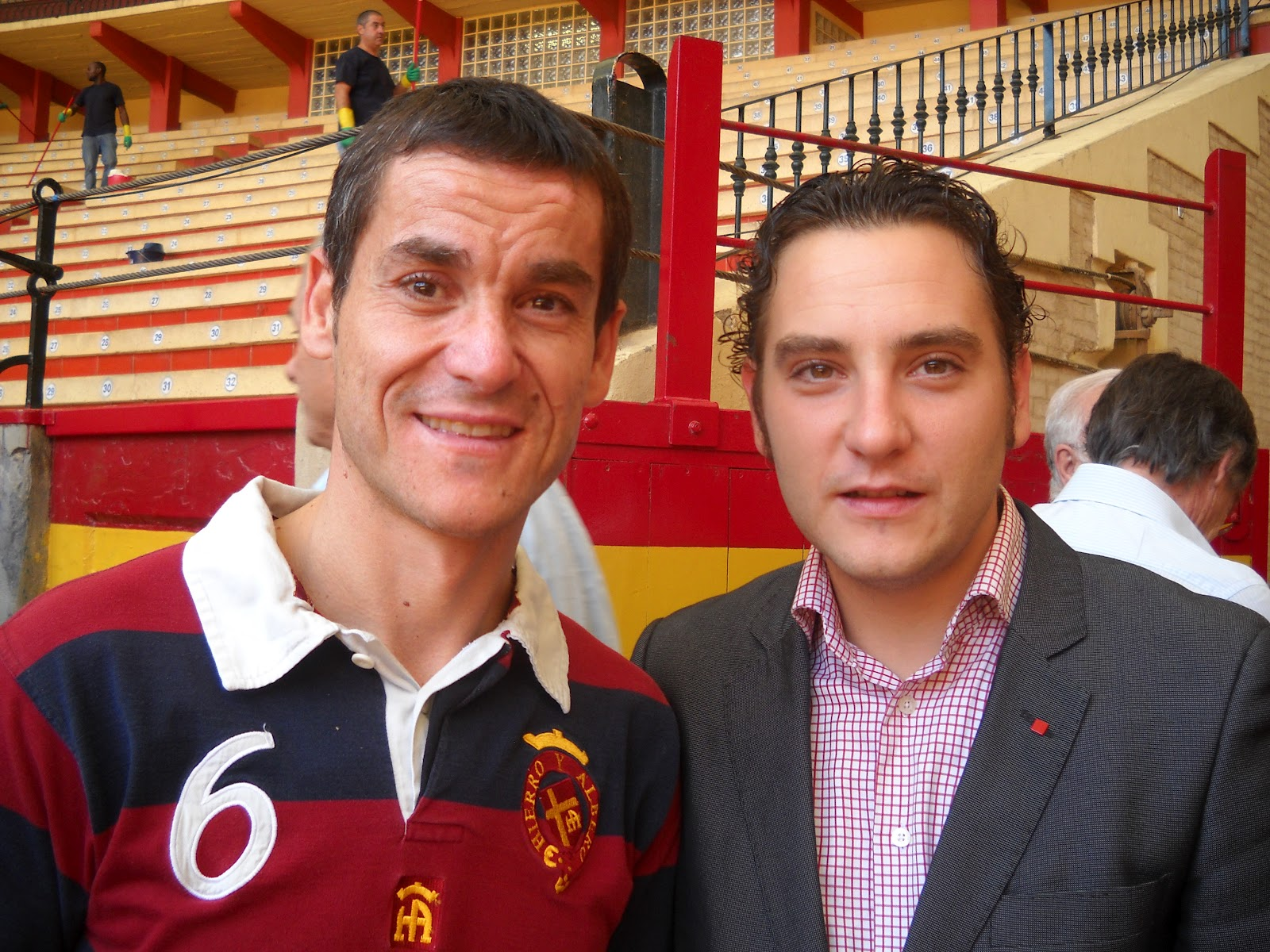 Alejandro Lalana y Jesús Arruga esta mañana en Zaragoza.