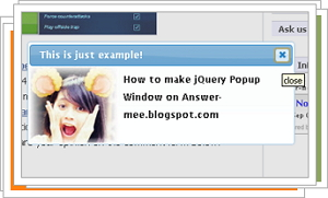 jQuery Dialog Effect Examples