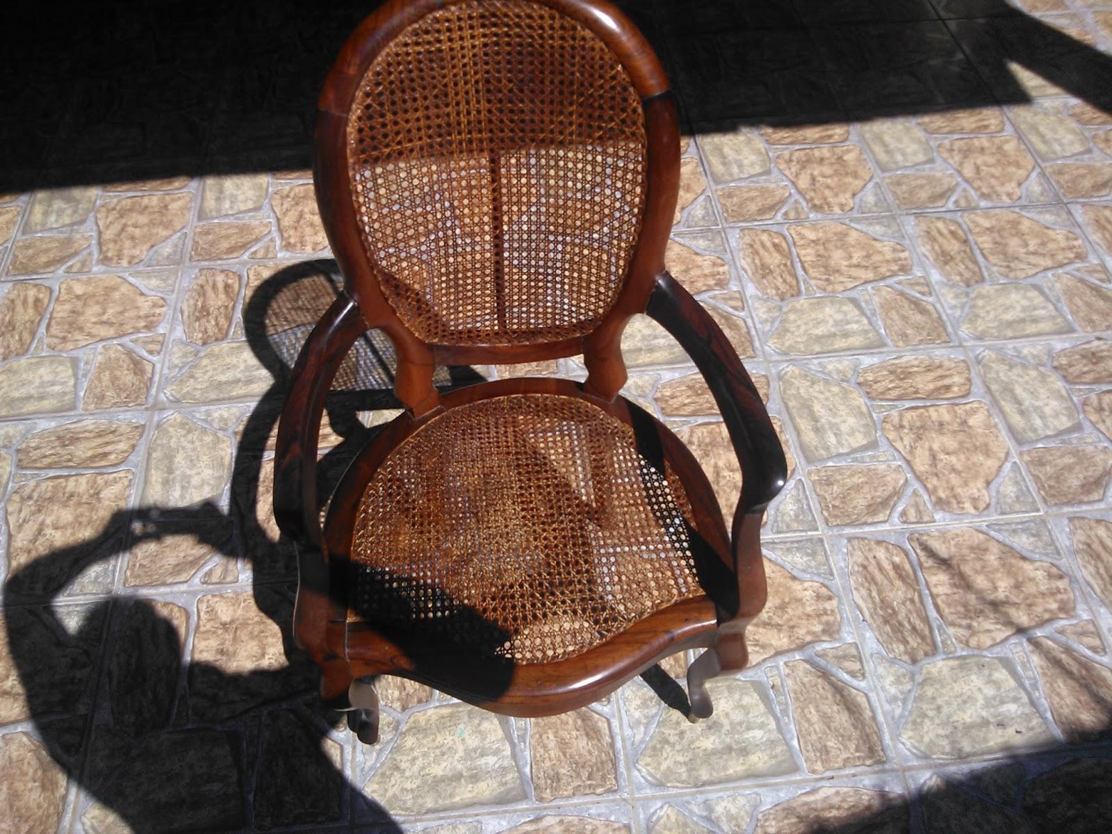 Empalhação de Poltrona em palha natural   envelhecimento  Cadeira de  #6E3D28 1600x1200
