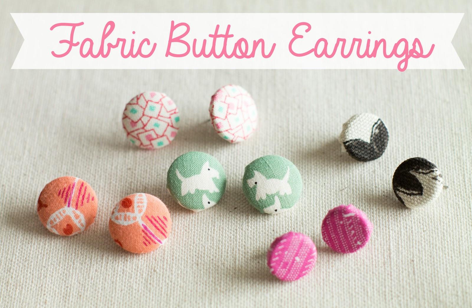 Fabric earrings etsy