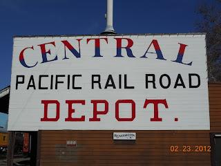 central pacific railroad sign