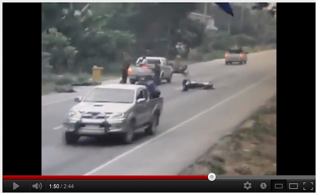 Video Pejuang Islam Tembak Tentera Thailand Atas Motor