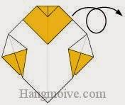 Bước 7: Lật ngược mặt đằng sau tờ giấy ra phía trước.
