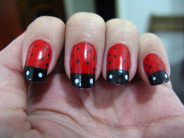 unique finger nail art design