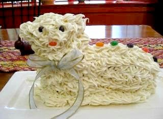 Easter lamb cake from KCET