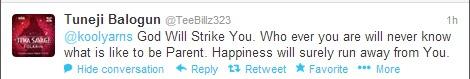 tweet from teebillz