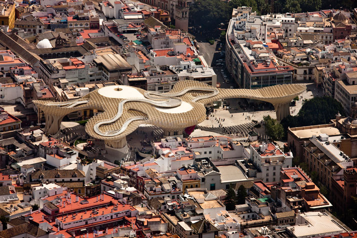 Thoughts on architecture and urbanism metropol parasol by for Architettura contemporanea barcellona