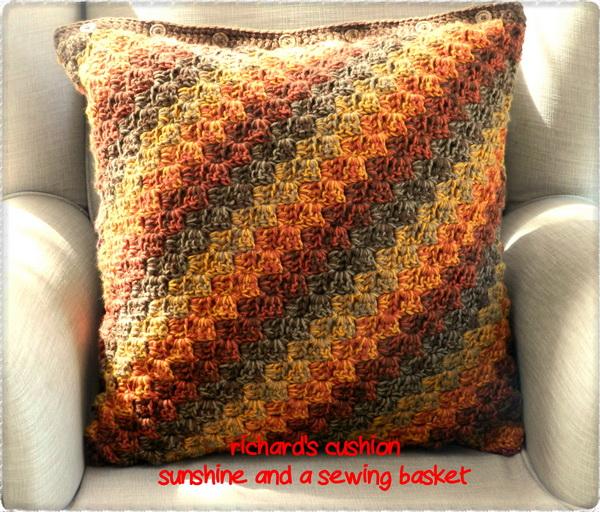Sunshine And A Sewing Basket Richards C2c Cushion