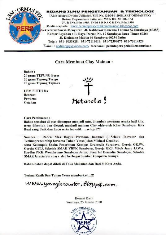 Inovasi Dan Tips Dari Surabaya tentang Cara membuat Clay.....