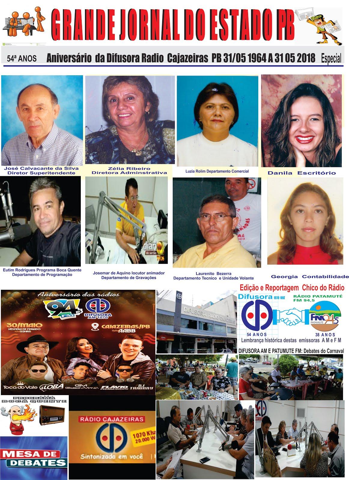 ANIVERSÁRIO DA DIFUSORA  RÁDIO CAJAZEIRAS  54 ANOS DIA  31  DE MAIO  2018