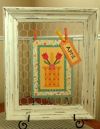 Needles \'n\' Knowledge: Display Frame with Chicken Wire Tutorial