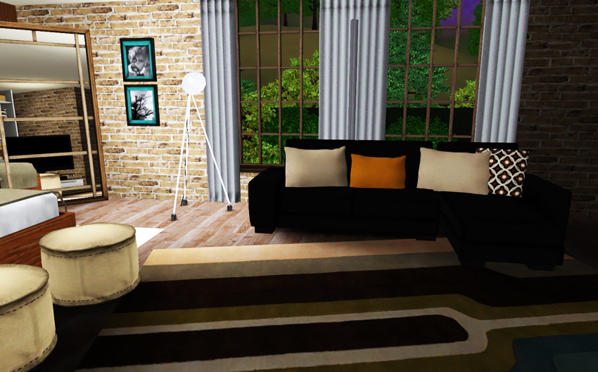 My sims 3 blog big garden house by babih for Big house blog