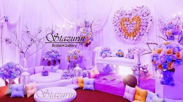 Mini Pelamin Tirai Pelamin Tunang,Pakej Perkahwinan,Busana Pengantin,Buaian Berendoi Warna Pastel