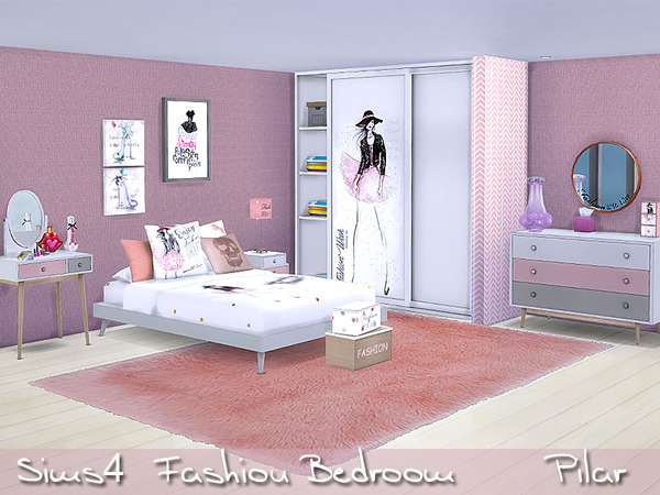 My Sims 4 Blog Fashion Bedroom Set By Pilar