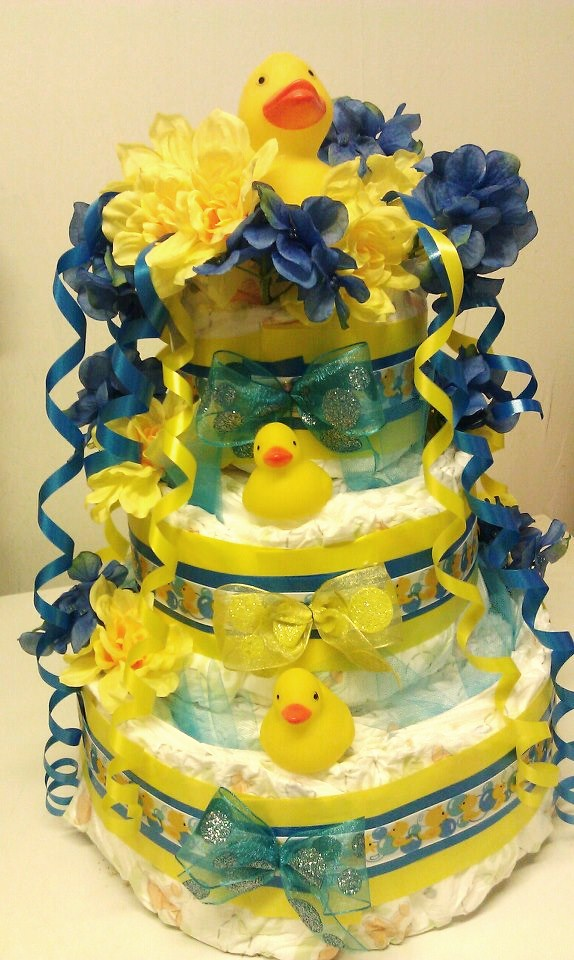 Yellow Duck Baby Shower Cakes