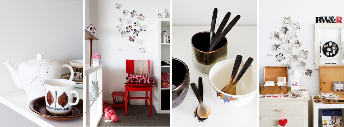 Black, White & Rouge. Daylesford. Homewares | Gifts | Vintage | Handmade
