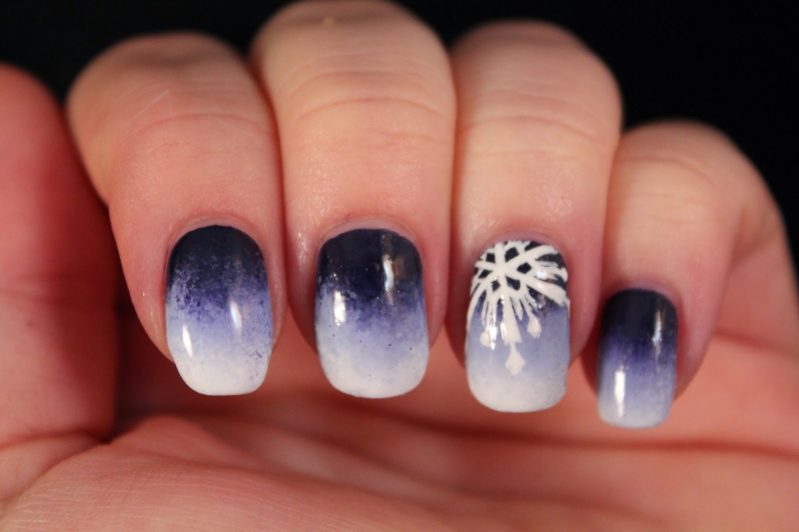 Glimpses of the Moon: Frozen-Inspired Nails
