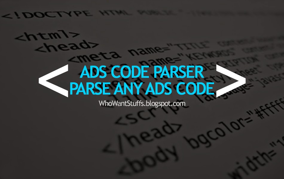 Ads Code Parser - Parse Any Ads Code