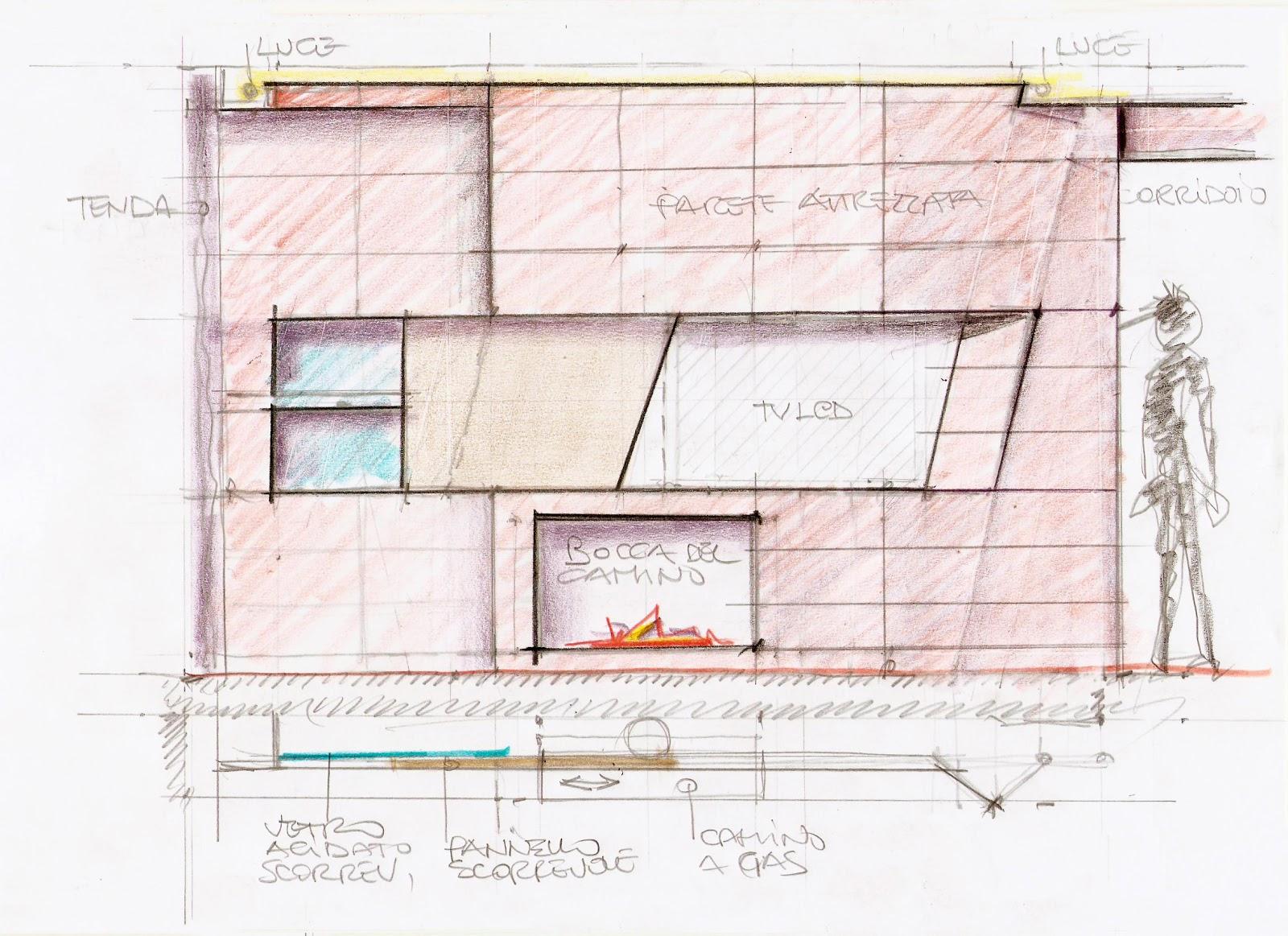 Vent 39 anni di disegni dell 39 arch antonio saporito disegno - Disegni per parete ...