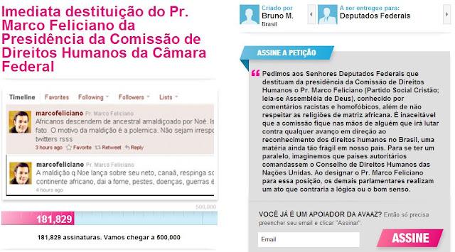 Petição pede 'destituição' de Marco Feliciano; assinem