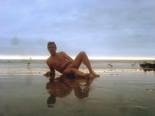 naturist, nudist, nudist beach, Brighton Beach, naked man, naked boy