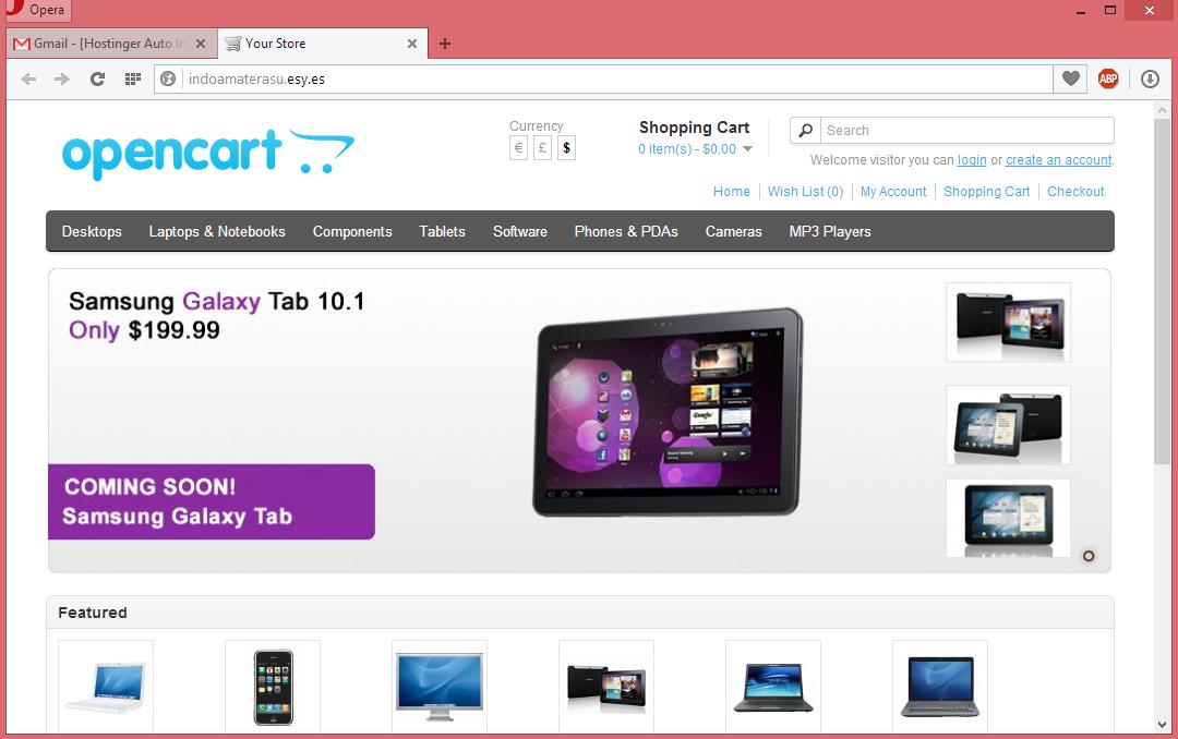 Membuat Website Toko Online Dengan CMS Opencart 12
