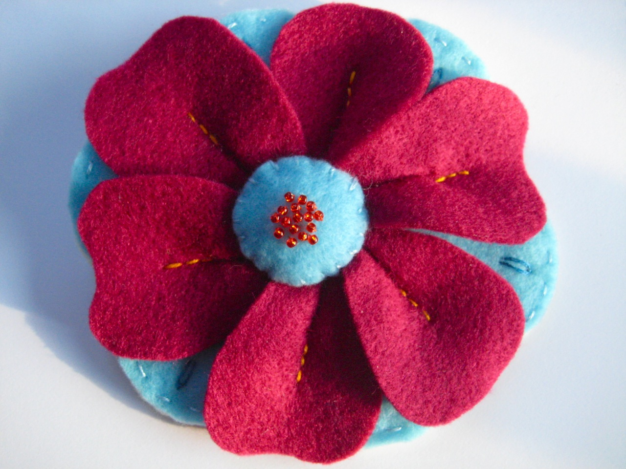 Notes From A Nomadic Knitter Felt Flower Brooch