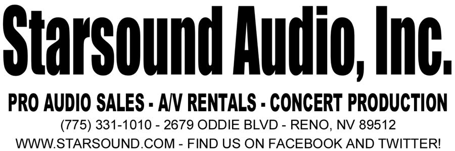 Starsound Audio, Inc. - Pro Audio Sales, A/V Rentals and Concert Productions - Reno, Nevada